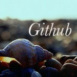 "Shell on the beach with text ""Github"" above it"