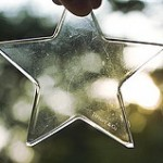 glass star against a bokeh background